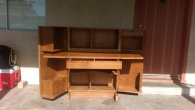 Real cool cabinet that on the inside is a  desk with shelf's, lock box ,and file separater and d... in 29 Palms, California