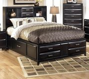 King size platform bed with drawers/no mattress in Cherry Point, North Carolina
