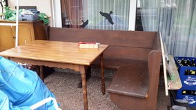 Wooden corner bench and table in Baumholder, GE