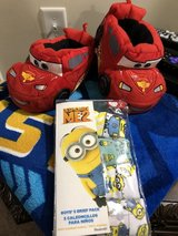 """Cars"" Blanket, House Shoes, Despicable ME2 Briefs in Warner Robins, Georgia"