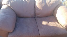 Leather loveseat in Yucca Valley, California