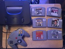 N64 w 6 games in Tinley Park, Illinois