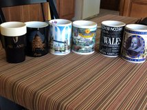 Mugs from Ireland, Scotland, London, France, Switzerland,wales and Italy. Souvenirs, never used. in Wheaton, Illinois