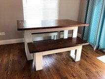 Country Modern Table and Benches in Westmont, Illinois