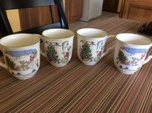 Set of 4 cups by Nikko Japan, Xmas design in Lockport, Illinois