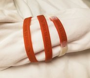 Texas Longhorns Orange White Plastic Jellly 3 Bracelets Chain Cuff Bangle NCAA Football Basketba... in Kingwood, Texas