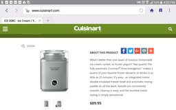 cuisinart Ice Cream maker in Fort Leonard Wood, Missouri