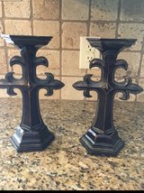 Set of 2 cross candle holders in Baytown, Texas