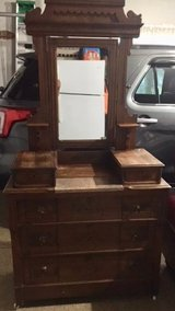 Antique Dresser with Marble insert in Naperville, Illinois