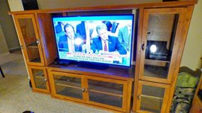 SOLID WOOD ENTERTAINMENT CENTER     ( REDUCED PRICE) in Kingwood, Texas