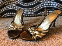 bronze and gold heels, size 6.5 in Chicago, Illinois