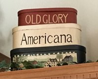 Americana stacking boxes in Fort Leonard Wood, Missouri