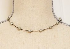 """Gray Antiqued Silver Tone 16"""" Strand Necklace Pendant Choker Statement Chain in Kingwood, Texas"""