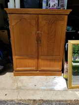 Solid Oak Armorie Cabinet in New Lenox, Illinois