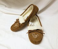 Houston Texans Slippers Med (7-8) Women's Moccasins House Shoes Warm Fuzzy Suede Cold Feet in Kingwood, Texas