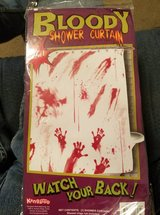 HALLOWEEN BLOOD SPLATTERED SHOWER CURTAIN in Clarksville, Tennessee