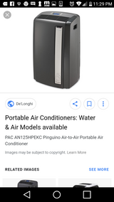 Delonghi portable a/c unit in Fairfield, California