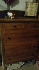 , RARE  PIECE OF leavenworth' history.,,,Abernathy furniture company.  'tall boy dresser'      o... in Kansas City, Missouri
