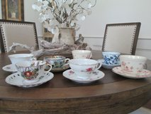 cups and saucers in Beaufort, South Carolina