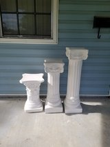 White Ceramic Columns in Biloxi, Mississippi