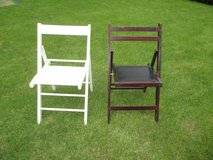 2 wooden folding chairs in Ramstein, Germany