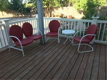Patio Furniture- retro style, set in Alamogordo, New Mexico