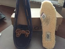 Ugg Blue Mocassins with Wool Inserts (Never Worn - Original Package) in Stuttgart, GE