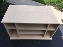TV stand storage unit blonde/light color wood in Oswego, Illinois