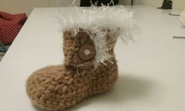"Crocheted baby ""Ugg"" boots in Camp Lejeune, North Carolina"