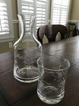 Bedside Water Carafe with Glass in Spring, Texas