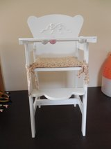 KidKraft Lil' Doll High Chair w/cushion - 23 inches Tall - Like New in Chicago, Illinois