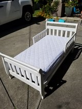 toddler bed with serta mattress and cover in Vacaville, California