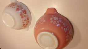 """Vintage Pyrex """"Pink Gooseberry"""" Bowls (2) in Bolingbrook, Illinois"""