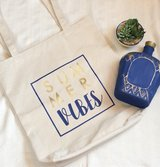 Summer Vibes Canvas Tote in Kingwood, Texas