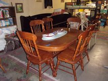 Oak Oval Table With Six Chairs in Fort Riley, Kansas