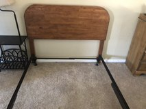 Full size bed frame, all wood head board in Fort Carson, Colorado