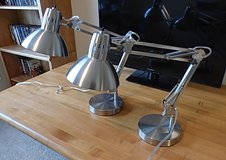 BRUSHED NICKEL ARCHITECTURAL LAMPS in Kingwood, Texas