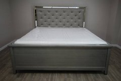 Champagne King Bed (including mattress) GREAT comfort! in CyFair, Texas