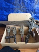 4 Sq Nut Adjustable Wrenches, Old Hand Saw & Drill in Travis AFB, California