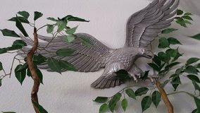 Pewter like eagle wall art in Nellis AFB, Nevada
