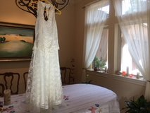 REDUCED! Handkerchief design lace Cocktail or Wedding Dress in Conroe, Texas