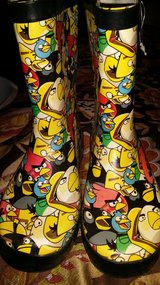 Angry bird rain boots in Fort Campbell, Kentucky