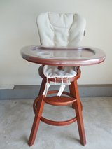 High Chair w/Cushions and Plastic Tray Cover in Yorkville, Illinois