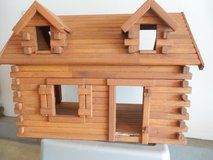 "Vintage ""Log Cabin""  DollHouse w/Fireplace, Chair and Hutch in Sandwich, Illinois"