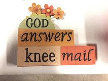 Plack - God answers knee mail in Naperville, Illinois
