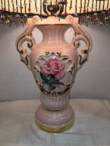 Vintage Porcelain Rose Lamp in DeRidder, Louisiana