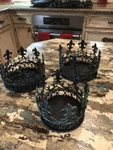 SALE PENDING 3 turquoise candle holders in Kingwood, Texas