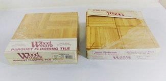 New in box Woodmark Parquet Flooring Tile in White Oak - covers 20 S.F. in Fort Campbell, Kentucky