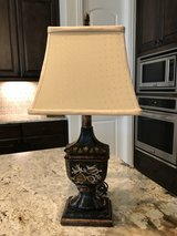 Lamp #1---Black with Cream Shade in Kingwood, Texas