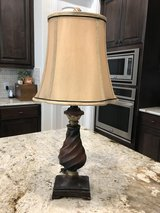 Lamp #3---Brown and Gold with Champagne Shade in The Woodlands, Texas